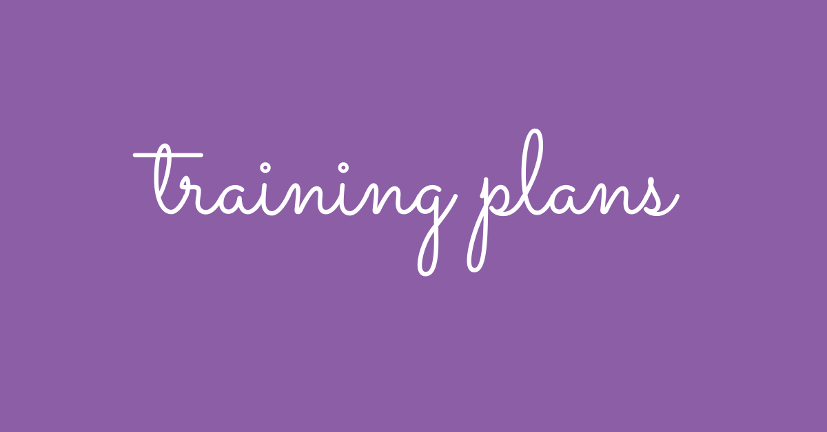 Training Plans Featured Image